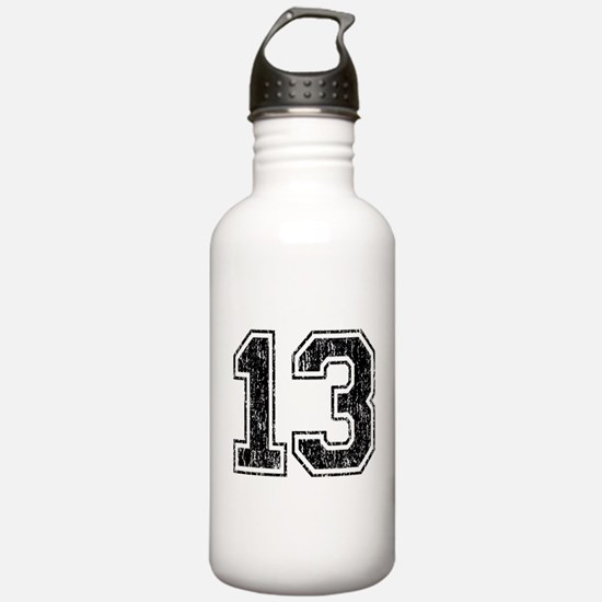 Retro 13 Number Sports Water Bottle