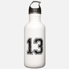 Retro 13 Number Water Bottle