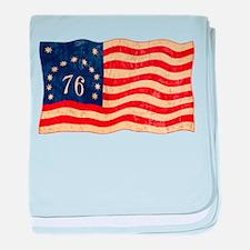 Retro 1776 American Flag Infant Blanket