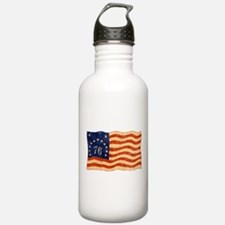 Retro 1776 American Flag Water Bottle