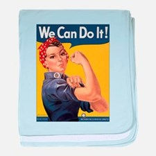 Rosie the Riveter We Can Do It baby blanket