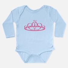 Quince Anos XV Tiara Long Sleeve Infant Bodysuit