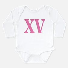 Quince Anos XV Long Sleeve Infant Bodysuit