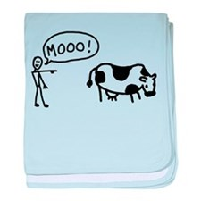 Moo At Cow Infant Blanket