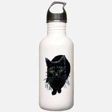Black Cat Water Bottle