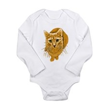 Orange Cat Long Sleeve Infant Bodysuit