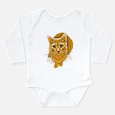 Orange Cat Long Sleeve Infant Bodysuit