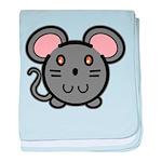 Gray Mousie Infant Blanket