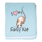 I Love My Fancy Rat Infant Blanket