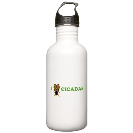 I Love Cicadas Stainless Water Bottle 1.0L