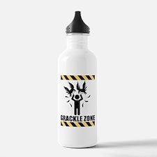 Grackle Zone Warning Water Bottle