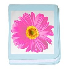 Pop Art Pink Daisy Infant Blanket