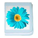 Pop Art Blue Daisy Infant Blanket