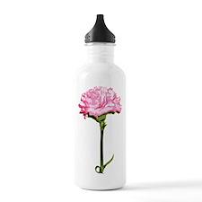 Pink Carnation Water Bottle