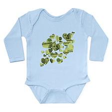 Money Hearts Long Sleeve Infant Bodysuit