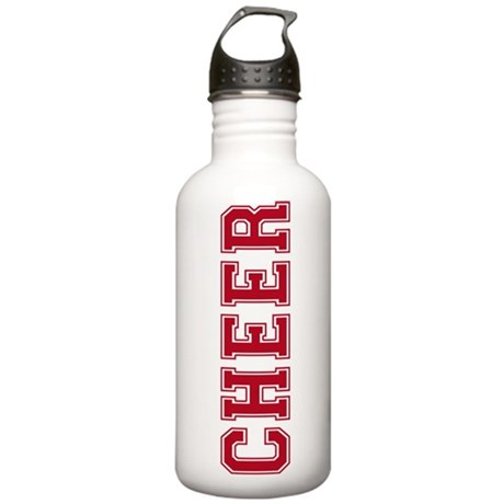 Cheer In Red Text Stainless Water Bottle 1.0L