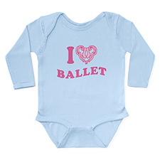 I Heart Ballet Long Sleeve Infant Bodysuit