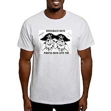 Brokeback Pirates Ash Grey T-Shirt