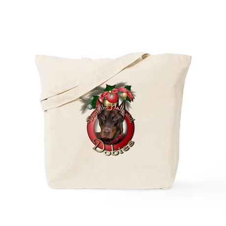 Christmas - Deck the Halls - Dobies Tote Bag