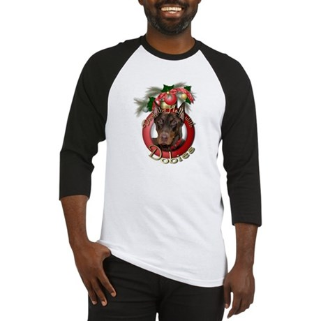 Christmas - Deck the Halls - Dobies Baseball Jerse
