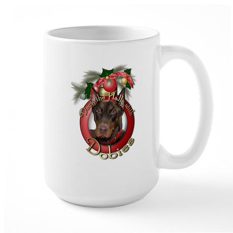 Christmas - Deck the Halls - Dobies Large Mug