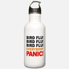 Bird Flu Everybody Panic Water Bottle