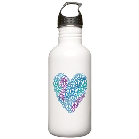 Peace Symbols Heart Stainless Water Bottle 1.0L