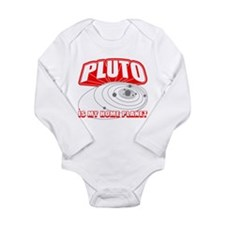 Pluto is my Home Planet Long Sleeve Infant Bodysui