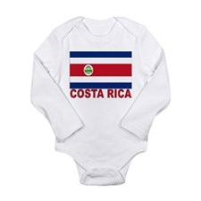 Costa Rica Flag Long Sleeve Infant Bodysuit
