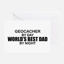 World's Greatest Dad - Geocacher Greeting Cards (P