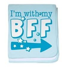 I'm with My BFF (RIGHT) baby blanket