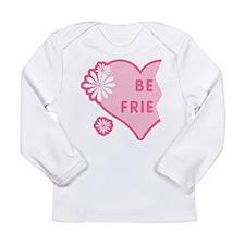 Pink Best Friends Heart Left Long Sleeve Infant T-
