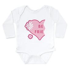 Pink Best Friends Heart Left Long Sleeve Infant Bo