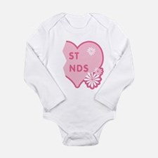Pink Best Friends Heart Right Long Sleeve Infant B