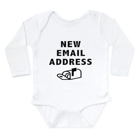 New Email Address Long Sleeve Infant Bodysuit