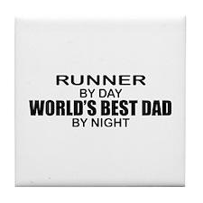 World's Greatest Dad - Runner Tile Coaster