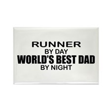 World's Greatest Dad - Runner Rectangle Magnet