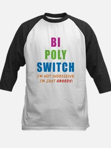 Bi Poly Switch Not Indecisive Kids Baseball Jersey