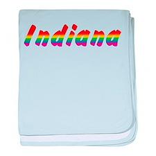 Rainbow Indiana Text Infant Blanket