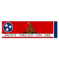 Don't Tread on Me Tennessee Bumper Sticker