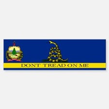 Dont Tread on Me Vermont Sticker (Bumper)