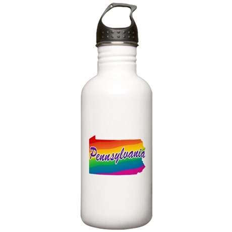 Gay Pride Rainbow Pennsylvani Stainless Water Bott