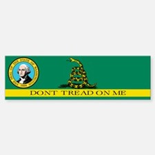 Dont Tread on Me Washington Bumper Bumper Sticker