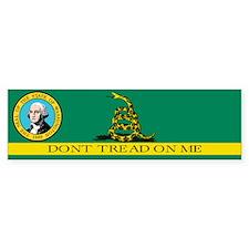 Dont Tread on Me Washington Bumper Sticker