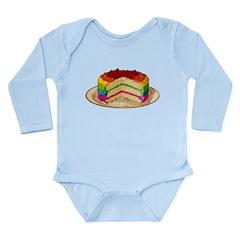 Rainbow Cake Long Sleeve Infant Bodysuit
