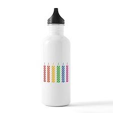 Rainbow Birthday Candles Water Bottle