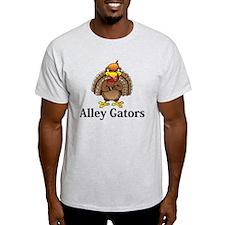 Alley Gators Logo 13 T-Shirt Design Front Ce