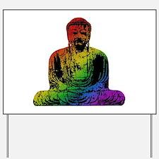 Rainbow Buddha Yard Sign