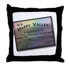 Happy Valley Massachusetts Throw Pillow