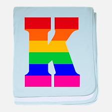 Rainbow Letter K Infant Blanket